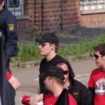 Patrick Bass auf dem Naziaufmarsch 2011 in Heilbronn